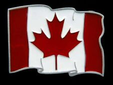 GREAT CANADIAN FLAG BELT BUCKLE LIMTED NEW!