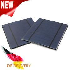 DIY 2 Stücke 5V 2.5W  Solarpanel Solarmodul Photovoltaik Solarzelle Monokristall