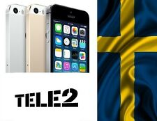 Factory Unlock iPhone 4 4s 5 5c 5s 6 locked to Tele2 Comviq SWEDEN