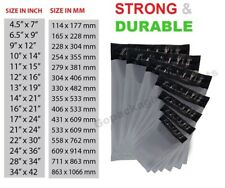 More details for 100 grey mailing bags strong poly postal postage post mailer self seal all sizes