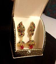 Ghazi's Imitated Indian  Multi Kundan Jhumka Earrings In Gift Box