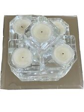 Partylite Crystal Castle Candle Holder 5 Tier Tea Light Retired, Gently Used.
