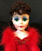 "Madame Alexander Doll 21"" Scarlett in Red Velvet Feather 2253 Portrait Series A+"