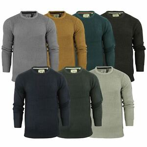 Mens Jumper Brave Soul Binary Fisherman Knitted Crew Neck Sweater