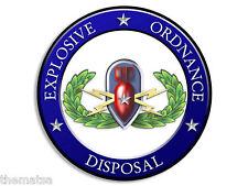 "ARMY NAVY SENIOR EOD EXPLOSIVE ORDNANCE DISPOSAL 4"" USA MADE CAR STICKER DECAL"