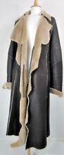 Celtic Clothing (Celtic & Co) Long Brown Shearling Sheepskin Coat UK Size 16