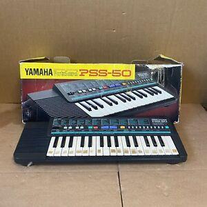 Vintage Yamaha PortaSound PSS-50 Retro 80s / 90s Electronic Keyboard Boxed PSU