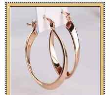 Hoop Earrings Snap Closure 18ct gold filled pop style medium, large Earring