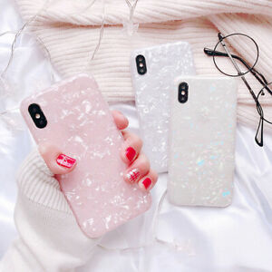For iPhone X XR XS Max Soft Slim Silicone Lovely Women Pink Bling Cover Case i09