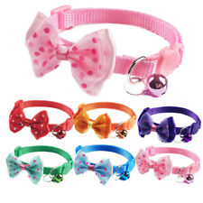 6PCS Lot Breakaway Cat Collar Bow Tie Adjustable Kitten Collars for Cats Kitty