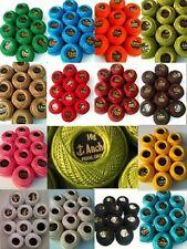 10 Anchor Pearl Cotton Crochet Embroidery Thread Balls in each Colour. Choose.