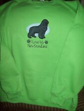 Newfoundland Dog Breed Personalized Sweatshirt Embroidered