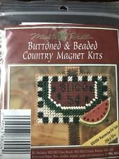 MILL HILL GLASS BEAD CROSS STITCH COUNTRY MAGNET KIT Watermelon For Sale MHMB4