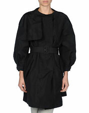 MIU MIU Black Faille Trench Coat Jacket Size IT 40 / US 4 / FR 36 / UK 8 $1,895