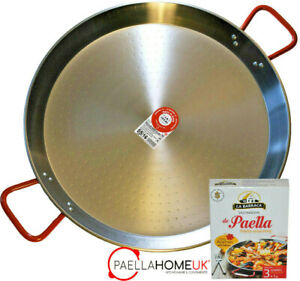 50cm PAELLA PAN PROFESSIONAL POLISHED CARBON STEEL + AUTHENTIC SPANISH GIFT