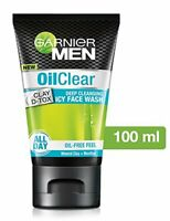 Garnier Men Oil Clear deep cleansing icy Facewash, 100g + Free Shipping