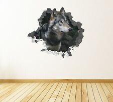 Animal Wolf White Black Custom Wall Decals 3D Wall Stickers Art - JS490