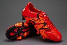 ADIDAS X 15.1 FG/AG LEATHER B26980 Soccer Football Boots Orange Black White