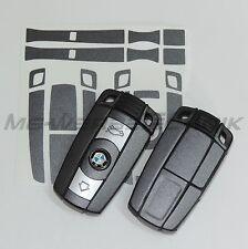 1B_Schlüssel-Dekor Aufkleber BMW 1er 3er 5er 6er Z4 X1 X5 M grau metallic matt