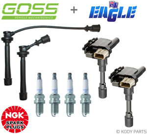 IGNITION LEADS, COILS & NGK PLUGS - for Suzuki Baleno 1.6L G16B Type 3,4,5,6,7