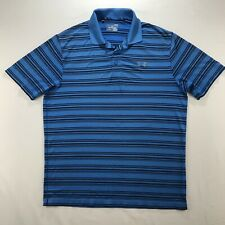 Under Armour Loose Heat Gear Mens Polo Shirt Size L Blue