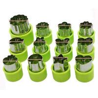 12-pk Stainless Steel Fruit Vegetable Mini Cookie Shape Cutter Set Kid Food Mold