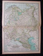 ORIGINAL 1897 Russia Folded Map Century Atlas No 96 11.5 x 16 Poland Finland