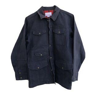 CC Filson Canvas Barn Chore Jacket Men Size Medium Dark Blue