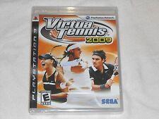 NEW Virtua Tennis 2009 Playstation 3 Game SEALED PS3 Sega virtual tenis 09 NTSC