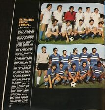 FOOTBALL POSTER PAPI EQUIPE SECB BASTIA OM MARSEILLE COUPE EUROPE CUP 1972-73