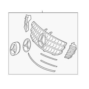 🔥 Genuine Front Grille Assembly for Mercedes-Benz GL-Class GL550 2011-2012 🔥
