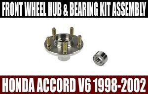 Front Wheel Hub /& NSK Japanese Wheel Bearing Set For Honda Accord 2.4L Auto//Tran