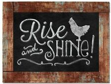 "Chalk it Up Wood Sign---Rise and Shine---Small Plaque 9.25"" X 6.5"""