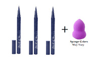 Hard Candy Stroke of Gorgeous Lash Serum, In The Navy (3 Pack) + Makeup Sponge