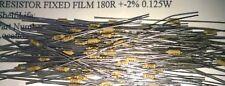 100pcs 180R 2% 0.125 W fixe Film Résistances