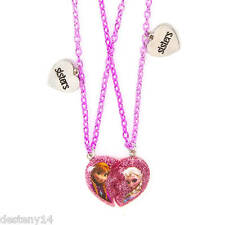 Disney Frozen Half Heart Sisters Pendant Necklaces Set of 2  NWT