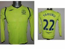 Rare 2008-09 FC Everton Yakubu #22 L/S Third Football Shirt Soccer - MB - 146