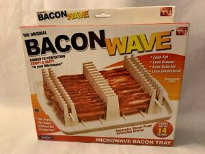 Emson Bacon Wave, Microwave Bacon Cooker Tray Cooks 14 Slices! Brand New