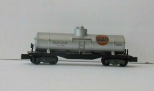 AMERICAN FLYER 24310 Single Dome GULF Solid Knuckle Coupler TANK Freight CAR C-6