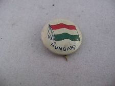 Interesting Antique Vintage COUNTRY FLAG Pin Pinback: HUNGARY FLAG