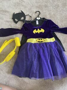 Batgirl Costume With Mask And An Interactive Belt Aged 5-6