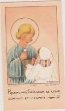 IMAGE PIEUSE HOLY CARD SANTINI JESUS/PREMIERE COMMUNION/ILLUST.AM.BOSSAERT