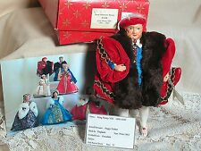 Vintage Peggy Nisbet Doll  Costume & Portrait Doll  MIB  King Henry Vlll