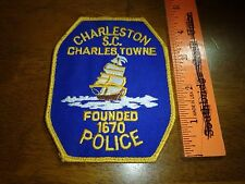 CHARLESTON SOUTH CAROLINA  CHARLES TOWNE POLICE OBSOLETE PATCH  BX G #38