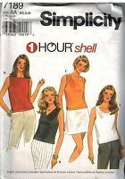 7189 UNCUT Simplicity Sewing Pattern Misses Set of Shells 1 Hour Career Casual