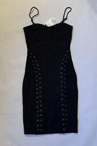 H&M Bodycon Lace Up Detail Dress Size 12