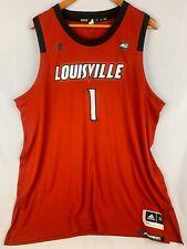 adidas #1 Louisville Cardinals Red Swingman Basketball Jersey 2XL
