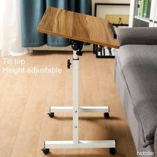 TILTABLE MOBILE OVERBED TROLLEY TABLE LAPTOP IPAD STUDY HOSPITAL DESK HI ADJUST