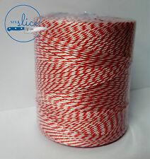 Butcher's Twine 560m Red & White Roll - Food Grade Polyester