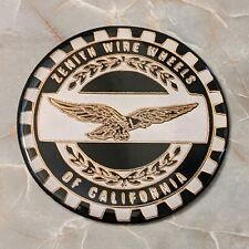 Black Amp Gold Eagle Zenith Wire Wheel Chips Emblems Decals Set Of 4 Size 225in